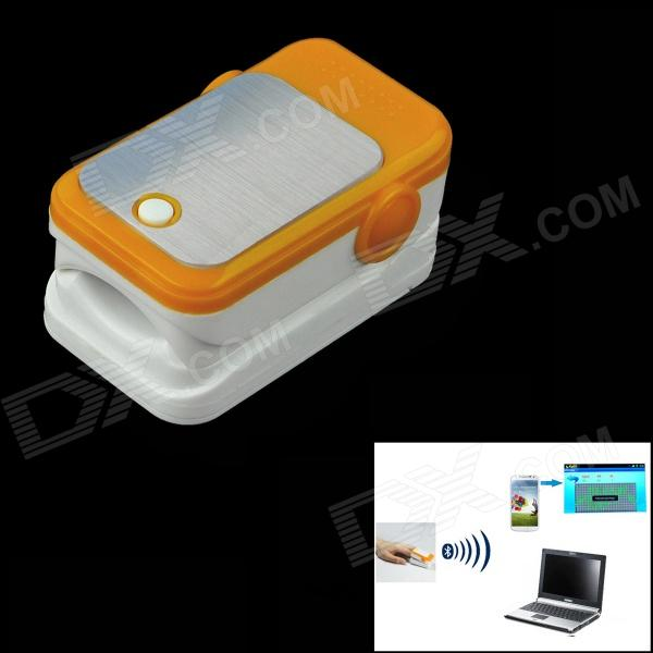 Bluetooth Fingertip Pulse Oximeter - Orange + White (2 x AAA) torday p salmon fishing in the yemen film tie in