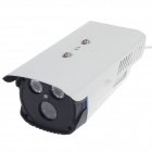 "HaiKe 2090+633 1/3"" CCD 700TVL PAL Surveillance Security Camera w/ 2-IR LED - White + Black"