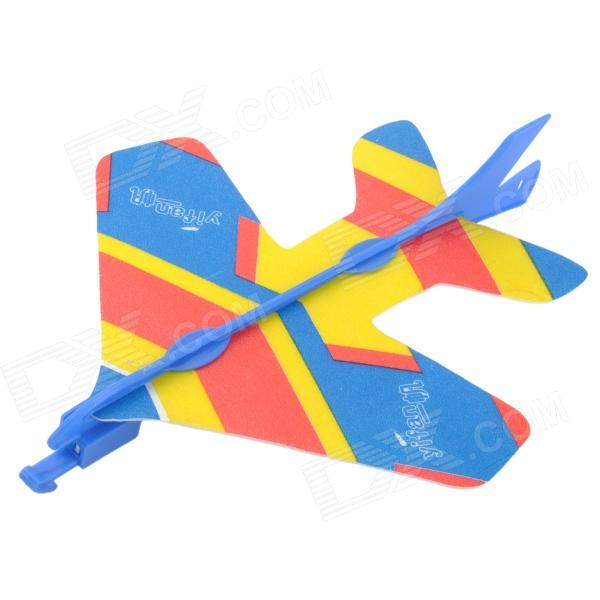 BL-918 Fun Slingshot Style Airplane Model Toy w/ LED Light - Blue