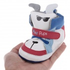 Cute Pups Style PU + Cotton Comfortable Baby Shoes - White+Blue+Black+Red ( 9~12 Months / Pair)