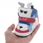 Cute Pups Style PU + Cotton Comfortable Baby Shoes - White + Blue + Black + Red ( 6~9 Months / Pair)