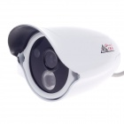 "CARD LEAD CL-602/AS 1/3"" 800TVL Surveillance CCD Video Camera w/ 1-IR LED - White"