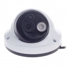 "CARD LEAD CL-208/AS 1/3"" 800TVL Surveillance CCD Video Camera w/ 1-IR LED - White + Black"