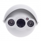 "CARD LEAD CL-4017/AS 1/3"" 800TVL Surveillance CCD Video Camera w/ 2-IR LED - White"