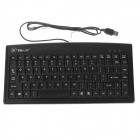 JSKJ-8233 USB 2.0 Wired 88-Key Keyboard for Laptop - Black
