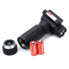 Universal Aluminum Alloy Flashlight Vertical Grip Foregrip w/ Red Laser for 20mm Rail Guns - Black