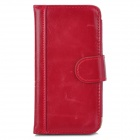 Y-I5-R Stylish Flip-Open Leather Case for Iphone 5 - Dark Red