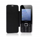"GOWIN G7100 2.8"" Bar Phone w/ Leather Cover, Dual Sim Dual Stanby, Camare, Bluetooth, FM - Black"