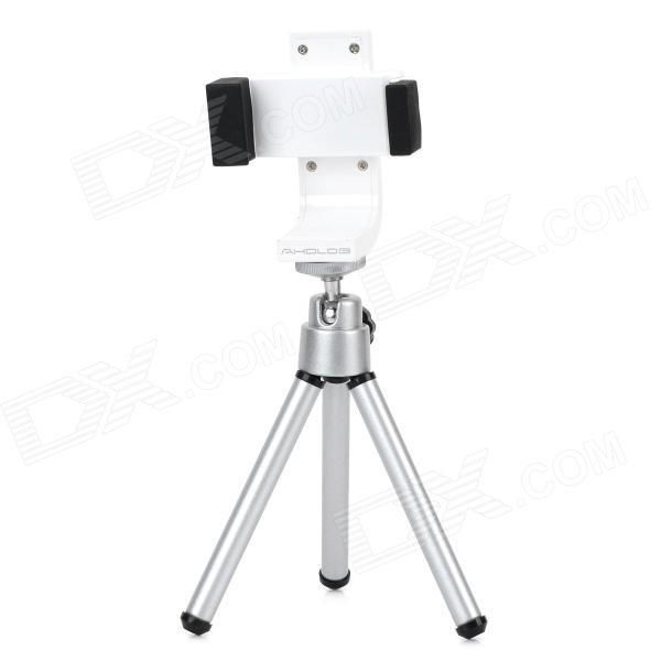 Multifunctional 360' Rotating Adjustable Holder + Tripod - White + Black + Silver