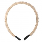 SHIYING 12 Handmade Crystal Beaded Headband for Women - Champagne Gold