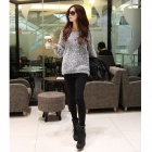 Fashion Mohair Strickpullover - Grau