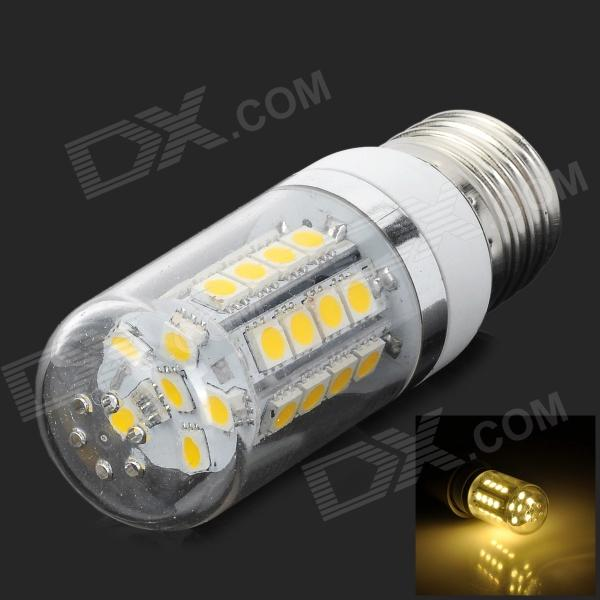 LEXING LX-YMD-063 3.5w 300lm 3500k E27 Warm White Light SMD5050 Corn Lamp - White + Silver(220~240V) lexing lx qp 20 e14 6w 470lm 3500k 15 5730 smd led warm white light dimmable lamp ac 220 240v