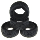 1:10 Rubber On-road Racing Car Model Replacement Tire - Black (4 PCS)