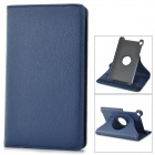 360 Degree Rotating Protective Litchi Pattern Case w/ Stand for Google Nexus 7 II - Deep Blue