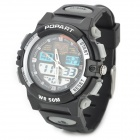 ALIKE A95 Sports 50m Water Resistant Quartz Digital Wrist Watch - Black + Grey