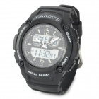 ALIKE 8073 Sports 50m Water Resistant Quartz Digital Wrist Watch - Black
