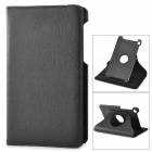 360 Degree Rotating Protective Litchi Pattern Case w/ Stand for Google Nexus 7 II - Black