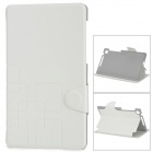 Protective Flip Open PU Leather + TPU Case w/ Stand for Google Nexus 7 II - White + Grey