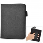 Protective PU Leather Case w/ Card Slots / Hand Strap for Amazon Kindle Paper White K5 - Black