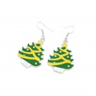 Christmas Tree Style Zinc Alloy Women's Earrings - Multicolored (Pair)