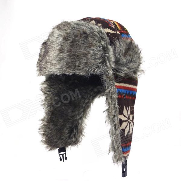 Outdoor Winter Ear Protective Hat - Multicolored