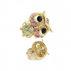 Fashionable Dominate Lovely Owl Style Zinc Alloy Women's Earrings - Multicolored (Pair)