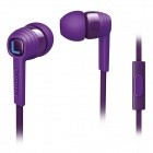 Philips SHE7055pp Purple Citiscape Indies Headphones Earphones with MIC for Iphone Samsung HTC LG