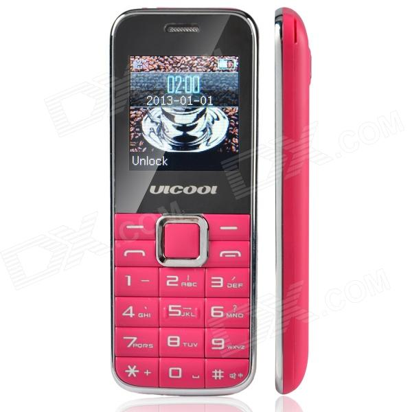 "ULCOOL Q3 Fashion GSM Bar Phone w/ 1.4"" LCD Screen, Dual-SIM, Bluetooth and FM - Deep Pink"