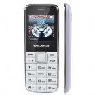 "ULCOOL Q3 Fashion GSM Bar Phone w/ 1.4"" LCD Screen, Dual-SIM, Bluetooth and FM - White"