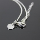 925 Silver Snake Chain Necklace + Snake Chain Earrings for Women - Silver