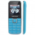 "ULCOOL Q3 Fashion GSM Bar Phone w/ 1.4"" LCD Screen, Dual-SIM, Bluetooth and FM - Blue"