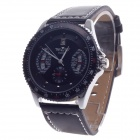 Fashionable Automatic Mechanical Men's Analog Wrist Watch - Black