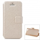 Cicada Silking Pattern Protective PU + Plastic Holder Case w/ Card Slot for Iphone 5 / 5S