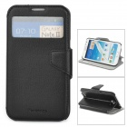 NEWTONS Protective Flip Open Case w/ Stand / Display Window for Samsung N7100 - Black