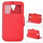 NEWTONS Protective Flip Open Case w/ Stand / Display Window for Samsung Galaxy i9200 - Red