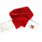 Christmas Interesting Short Plush Scarf - Red + White