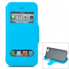 Protective PU Leather + Plastic Case for Iphone 5 - Light Blue