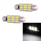 Festoon 39mm 4.5W 216lm 9-SMD 5630 LED White Light Car Decoding Reading Lamp Dome Bulb (12V / 2 PCS)