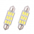Festoon 39 milímetros 4.5W 216lm 9-SMD 5630 LED White Light Car Decoding lâmpada de leitura Dome Bulb (12V / 2 PCS)