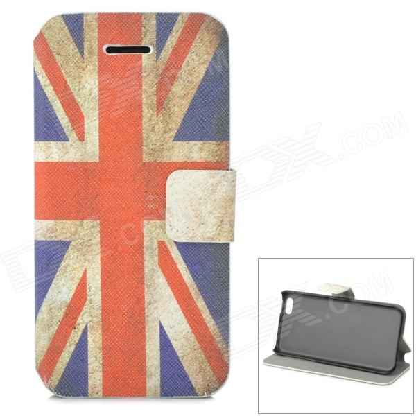 Retro UK National Flag Style Protective PU Leather Case for Iphone 5C - Blue + Red + Beige цена и фото