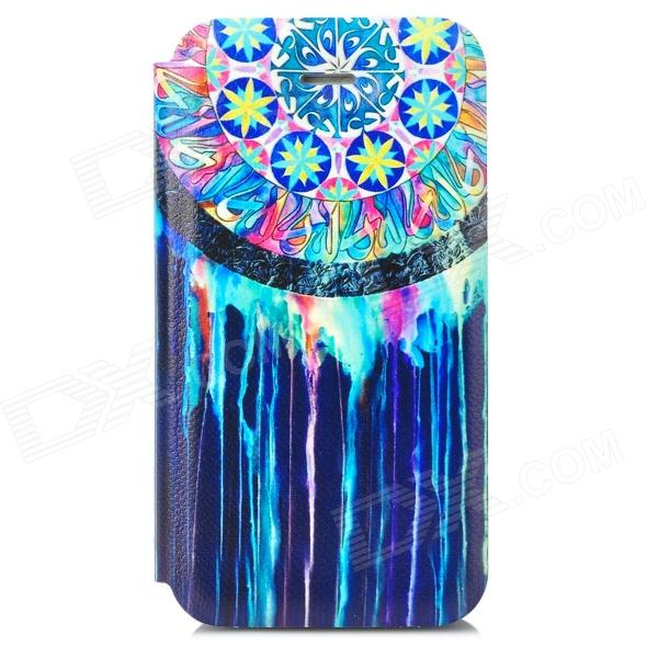 Protective PU Leather + Plastic Flip-open Holder Case for Iphone 4 - Multicolored protective flip open pu leather plastic case for iphone 5c blue