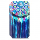 Protective PU Leather + Plastic Flip-open Holder Case for Iphone 4 - Multicolored