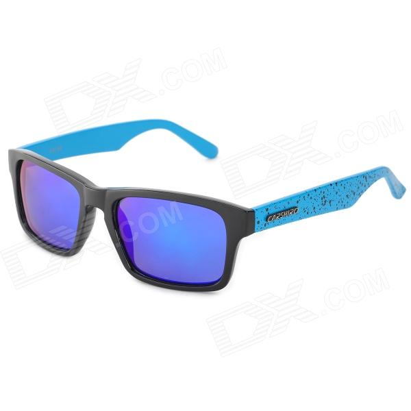 CARSHIRO 66108-4 Fashion UV400 Protection Polarized Sunglasses - Black + Blue clip on uv400 protection resin lens attachment sunglasses small