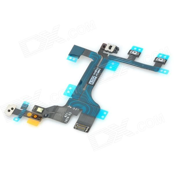 Repair Parts Replacement Flashlight / Mute  / Volume / Power Button Flex Cable for Iphone 5C 5 in 1 replacement accessories home button repair parts set for new ipad