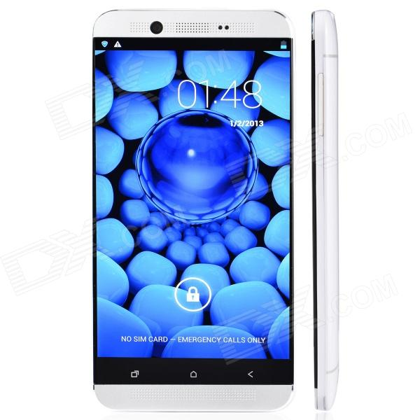 S6 MTK6589T Android 4.2 Quad-Core WCDMA Bar Phone w/ 5, Wi-Fi, GPS, FM, RAM 1GB, ROM 16GB - White zopo zp1000 android 4 2 octa core wcdma bar phone w 5 0 screen wi fi and rom 16gb blue black