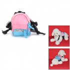 DogLemi S Cute Comfortable Canvas Pet Dog Harness Bag - Pink + Blue