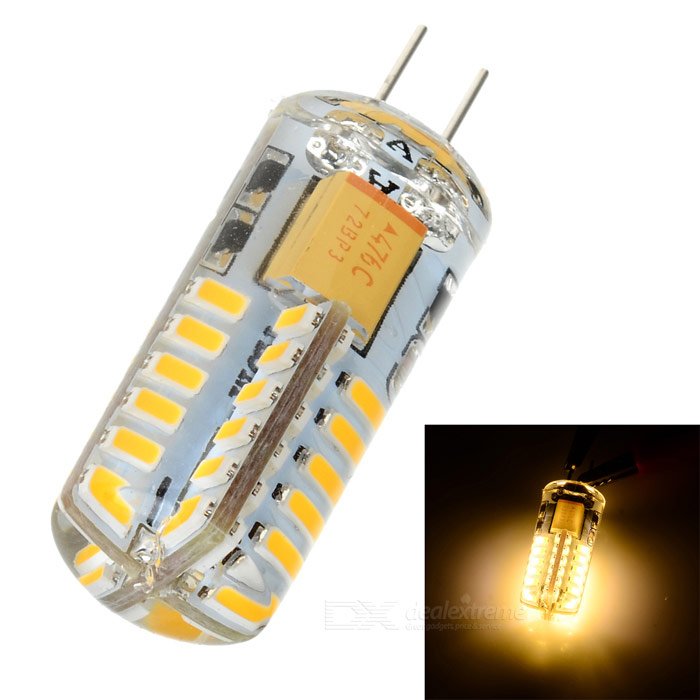 G4 1.68W 130lm 3000K 48-3014 SMD LED Warm White Light Car Side Lamp - Yellow + Transparent (12V)