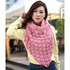 Fashion Knitting Wool Collar Scarf Neck Warmer - Pink