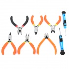 WLXY WL-5209 Steel + PVC DIY Electronic Circlip Pliers Set w/ Screwdrivers - Black + Orange + Blue