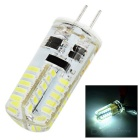 G4 1.68W 130lm 6500K 48-3014 SMD LED White Light Car Side Bulb - Transparent + Yellow (12V)